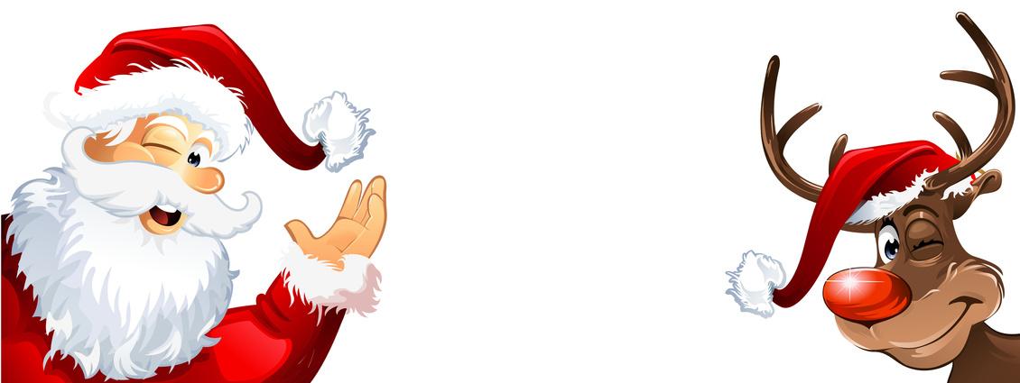 Weihnachtsmann und Rudolph